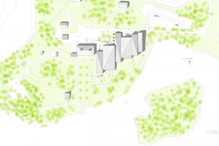 位置平面图 site plan-Serlachius博物馆扩建方案第22张图片