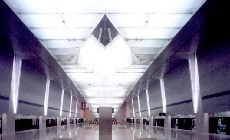 樟宜机场地铁站照明设计第13张图片