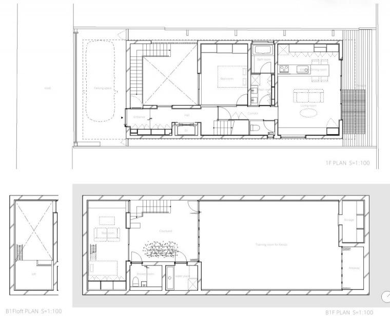 平面图02 Plans02-中野三重宅第18张图片