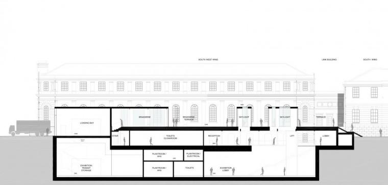 剖面图02 Section02-英国国家海洋博物馆扩建第35张图片