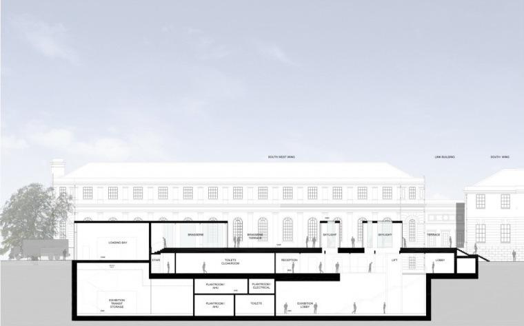 剖面图03 Section03-英国国家海洋博物馆扩建第36张图片