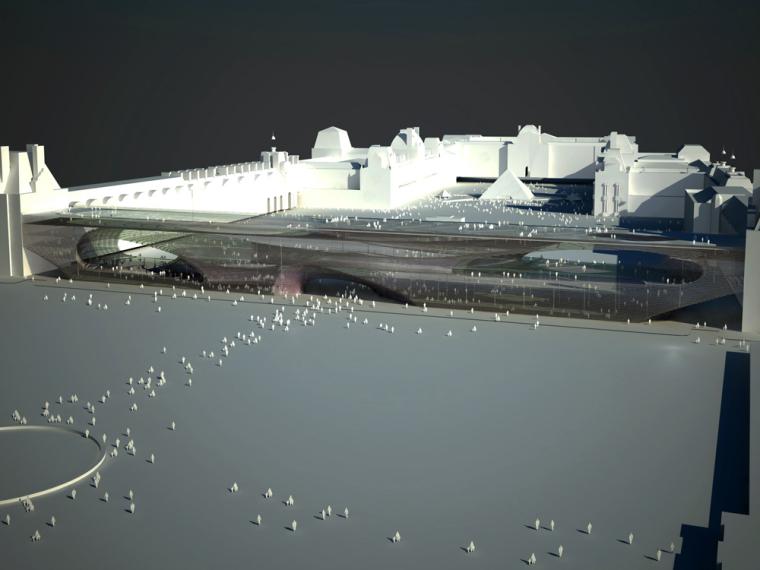 轴测图 axonometric-卢浮宫扩建第8张图片