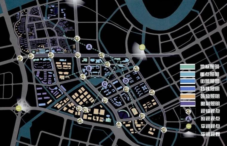 宁波科技园区夜景照明总体规划第11张图片