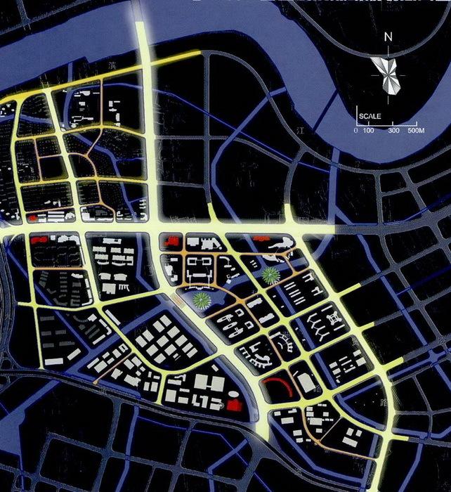 宁波科技园区夜景照明总体规划第14张图片