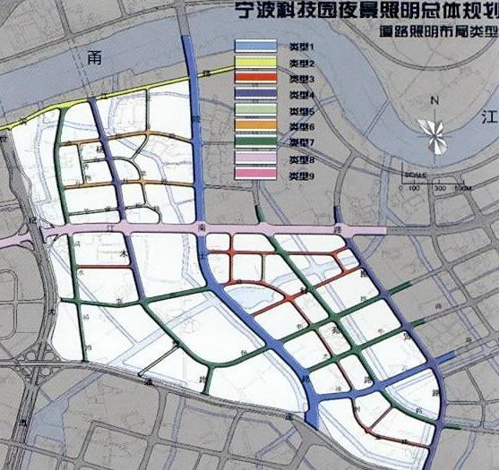 宁波科技园区夜景照明总体规划第15张图片