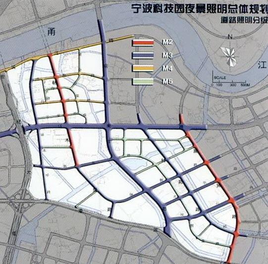 宁波科技园区夜景照明总体规划第17张图片