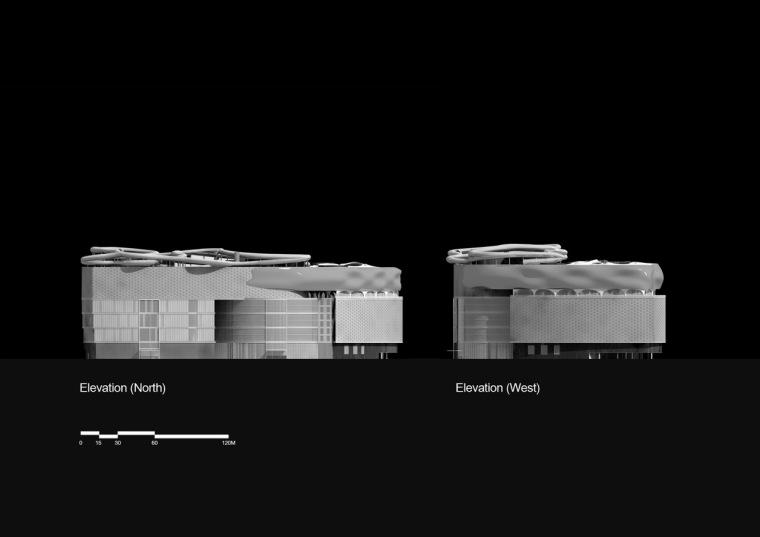 立面图02 elevation02-乐天百货公司楼顶花园第3张图片