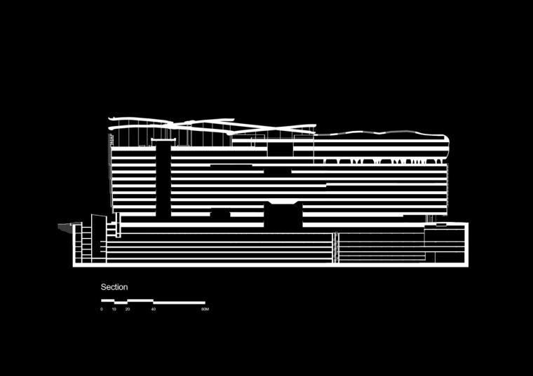 剖面图 section-乐天百货公司楼顶花园第11张图片