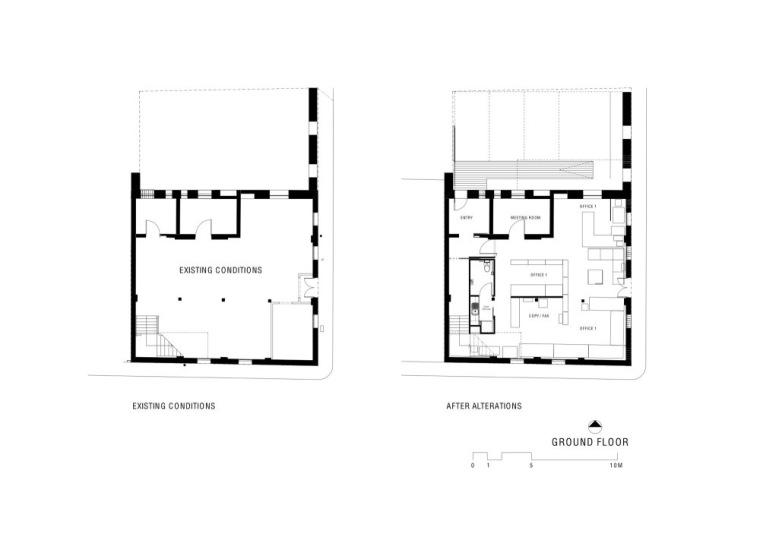 原首层平面图和现首层平面图 Gro-建筑工作室第20张图片