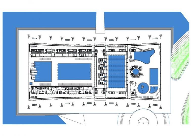 平面图 Floor Plan-上海东方体育中心第8张图片