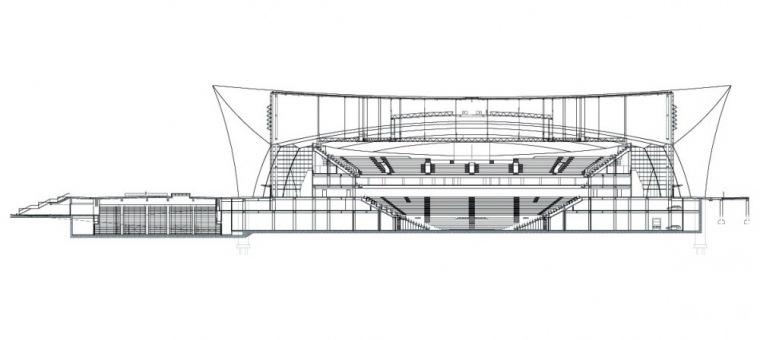 剖面图01 Section01-上海东方体育中心第9张图片