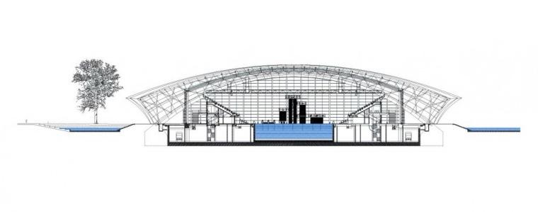 剖面图02 Section02-上海东方体育中心第10张图片