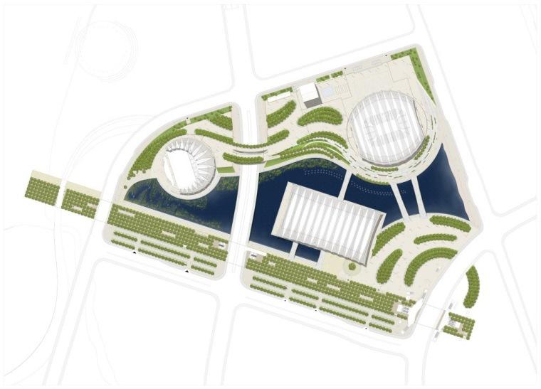 位置平面图 Site Plan-上海东方体育中心第11张图片