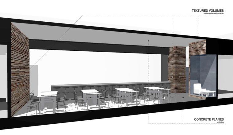 剖面图01 section01-创意联盟咖啡店第12张图片