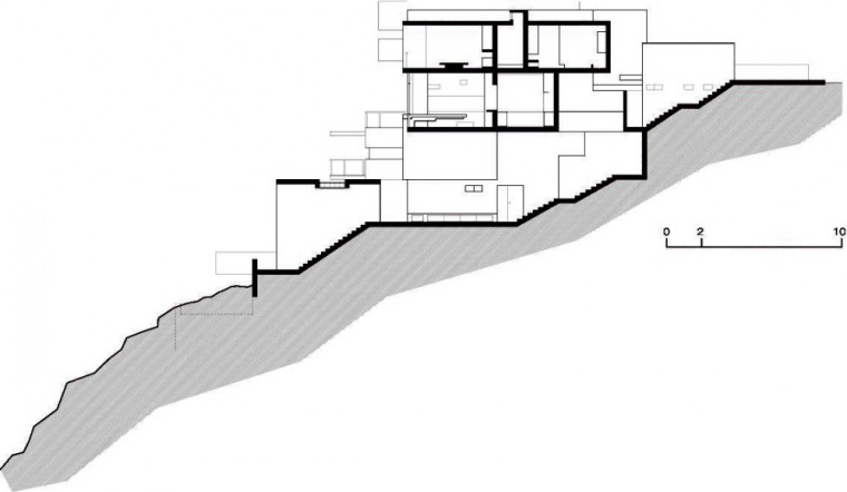 剖面图03 Section03-阿尔瓦雷茨住宅第28张图片