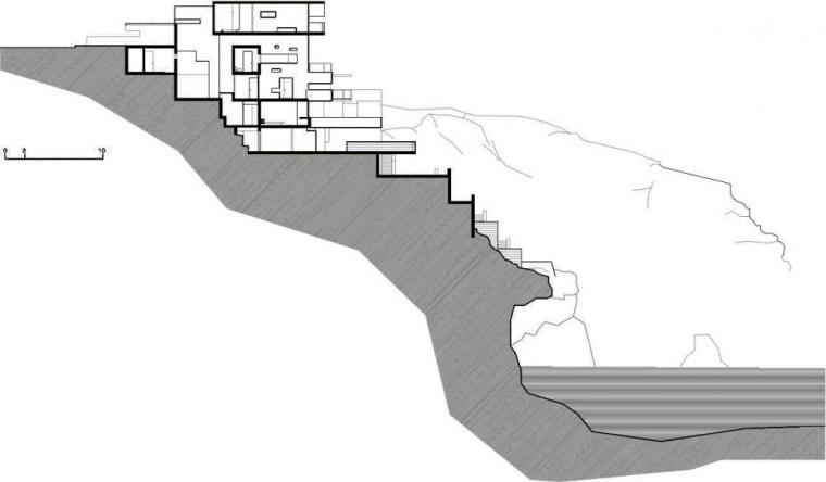 剖面图04 Section04-阿尔瓦雷茨住宅第29张图片