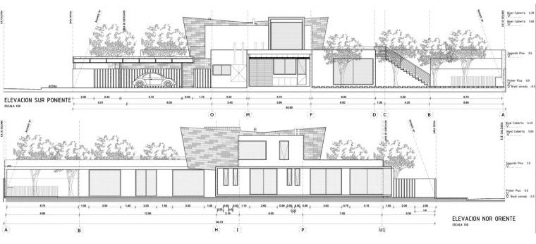 立面图02 Elevations02-三元素住宅第16张图片