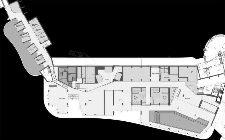 平面图 Floor Plan-Lone健身和水疗场所第9张图片