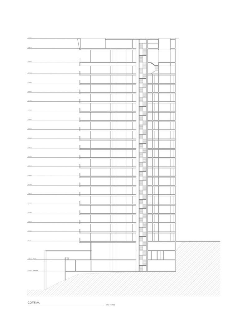 剖面图 Section-Zodiaco公园住宅楼第13张图片