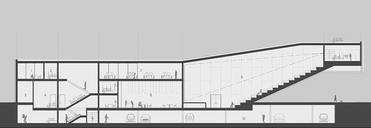 剖面图01 section 01-Quarter文化中心第15张图片