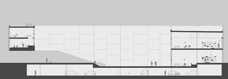 剖面图02 section 02-Quarter文化中心第16张图片