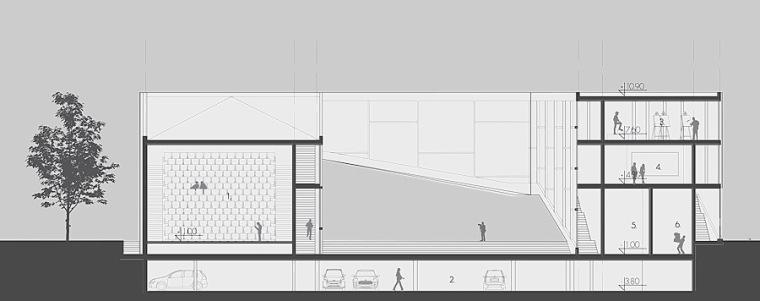 剖面图03 section 03-Quarter文化中心第17张图片