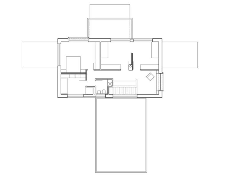 二层平面图 First Floor Plan-Bohumilec住宅第10张图片