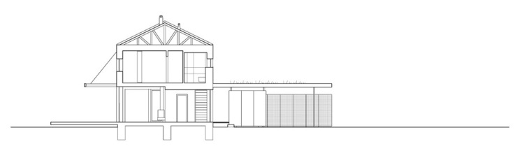 剖面图 Section-Bohumilec住宅第11张图片