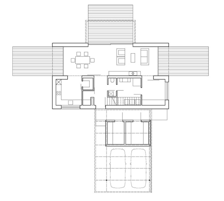 首层平面图 Ground Floor Plan-Bohumilec住宅第13张图片