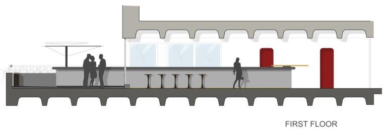 二层立面图 First Floor Elevati-Barbican餐厅第36张图片