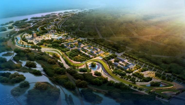 汉中市滨江新区绿地公园景观设计第2张图片