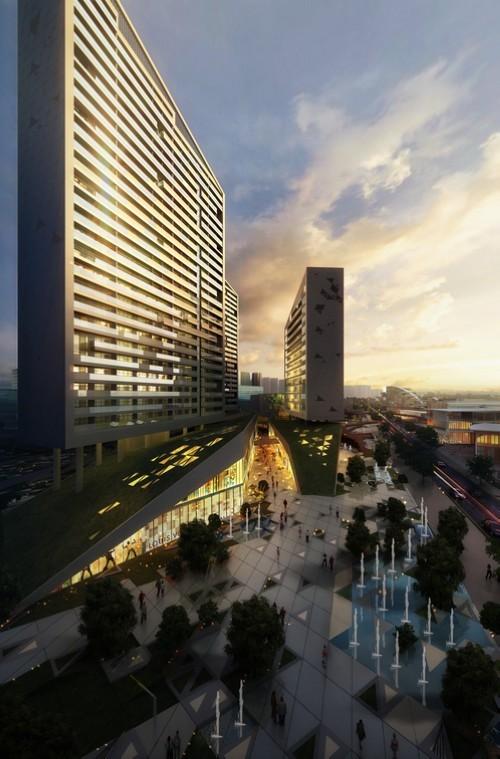 建筑景观-遂宁时尚商业区第6张图片