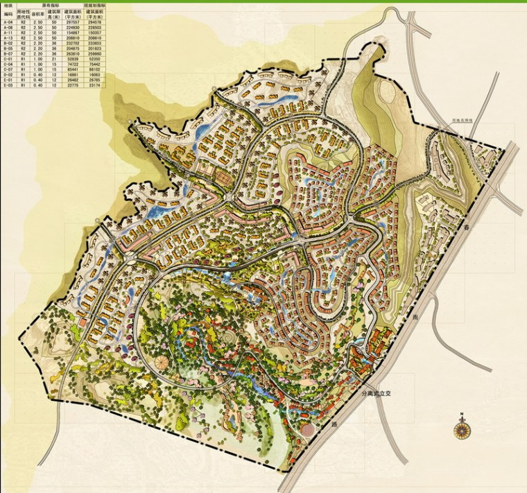 规划总平面图-昆明翠峰城市生态公园景观规划第2张图片