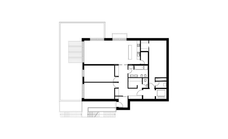 二层平面图 First Floor Plan-阶梯住宅第14张图片