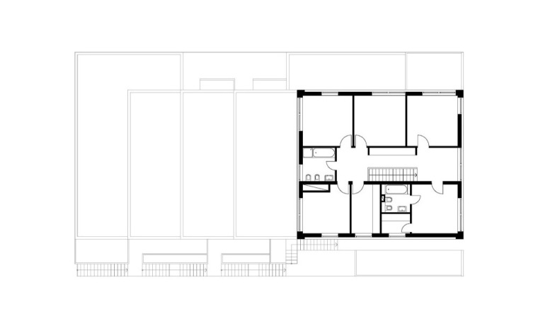 六层平面图 Fifth Floor Plan-阶梯住宅第15张图片