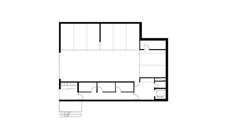 首层平面图 Ground Floor Plan-阶梯住宅第18张图片