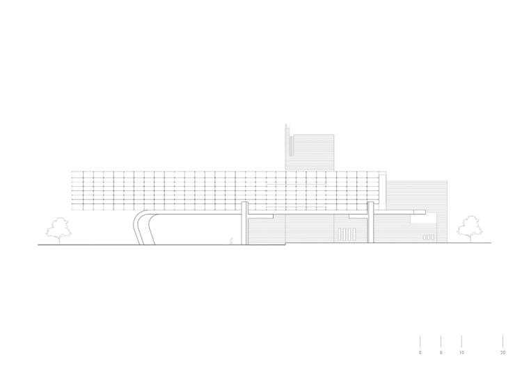 侧立面图 Side Elevation-IAA图书馆第13张图片