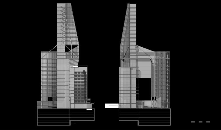建筑剖面图 Building Sections-BLC银行总部第7张图片