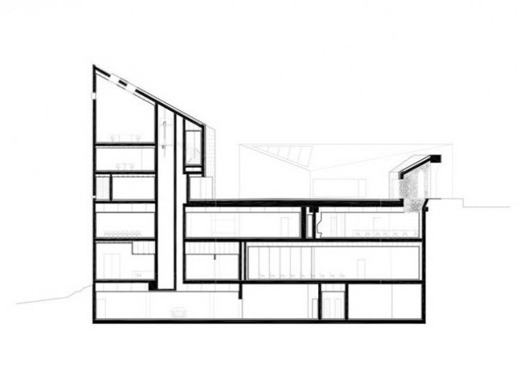 剖面图 Section-Ribera del Duero总部第12张图片