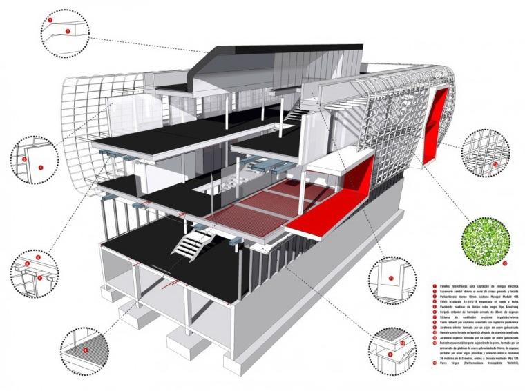 3D 剖面图 3D Section-诺艾恩市政大厅第2张图片
