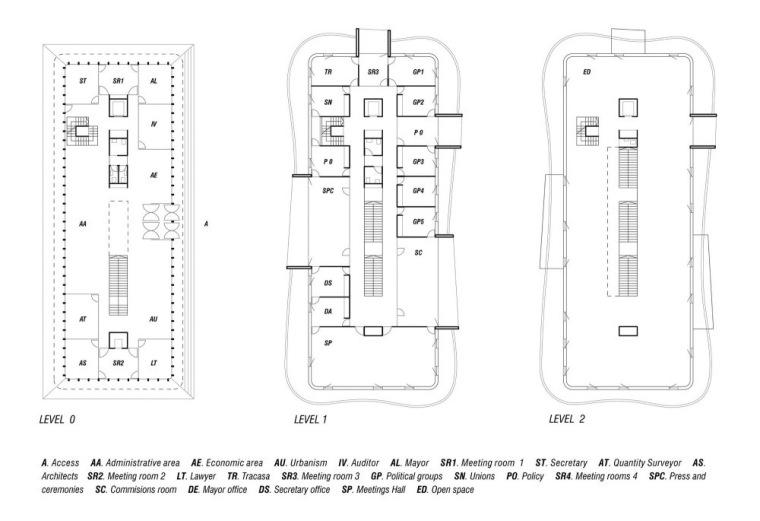 平面图02 Plans02-诺艾恩市政大厅第5张图片