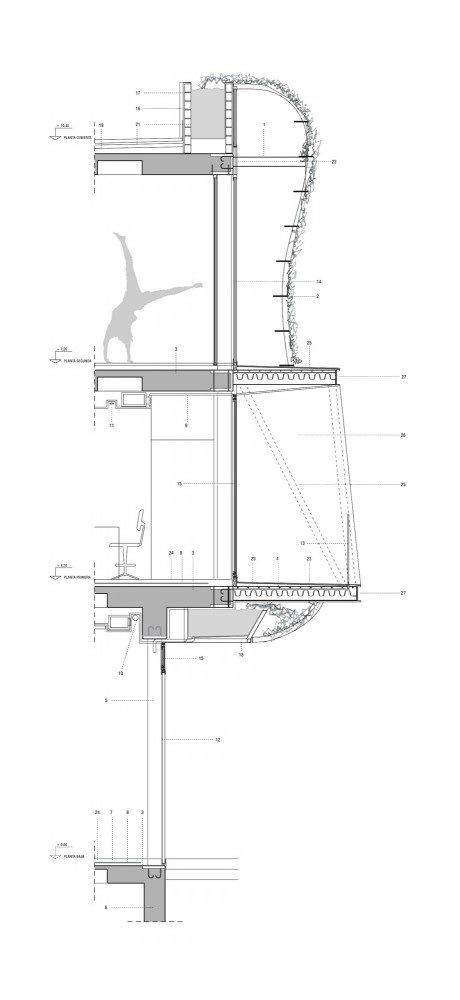 剖面图细节 Section Detail-诺艾恩市政大厅第8张图片