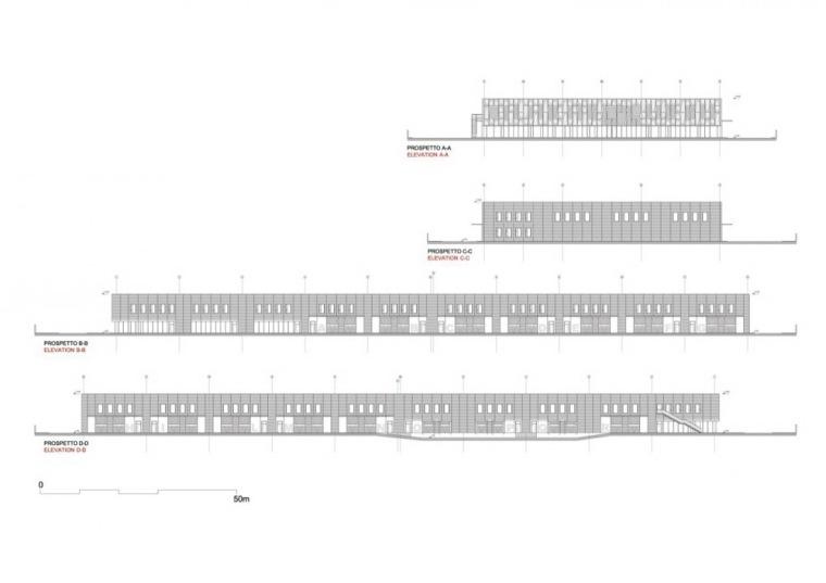 立面图 Elevations-诺拉办公楼第21张图片
