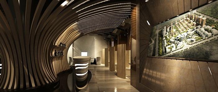 5.大厅设计效果图3-海德集团包头售楼处第6张图片