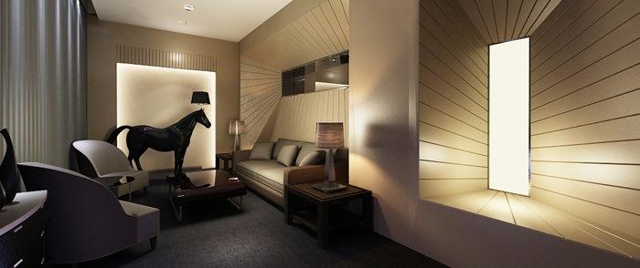 签约室设计效果图-海德集团包头售楼处第8张图片