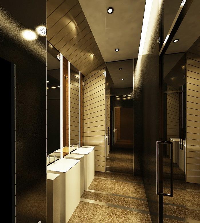 卫生间设计效果图-海德集团包头售楼处第11张图片