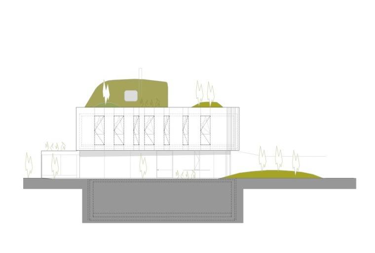 立面图02 Elevation02-Wohnzimmer住宅第12张图片