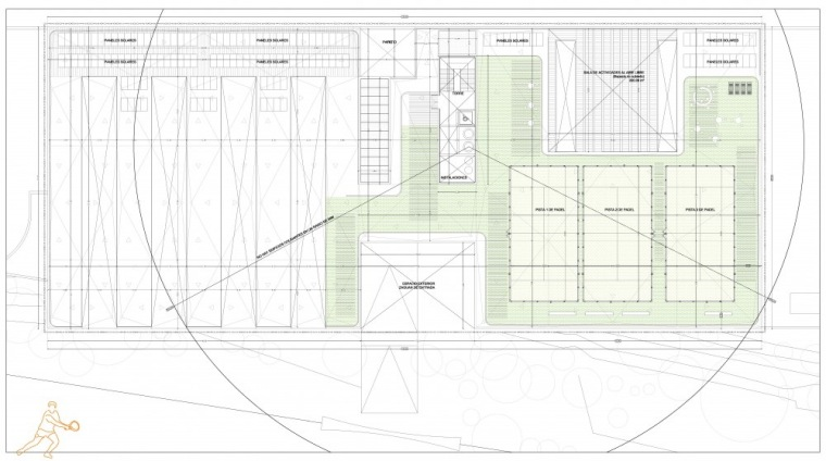 楼顶平面图 roof floor plan-Vallehermoso体育中心第5张图片