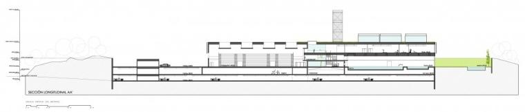 剖面图01 section 01-Vallehermoso体育中心第8张图片