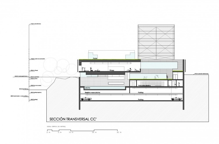 剖面图02 section 02-Vallehermoso体育中心第9张图片